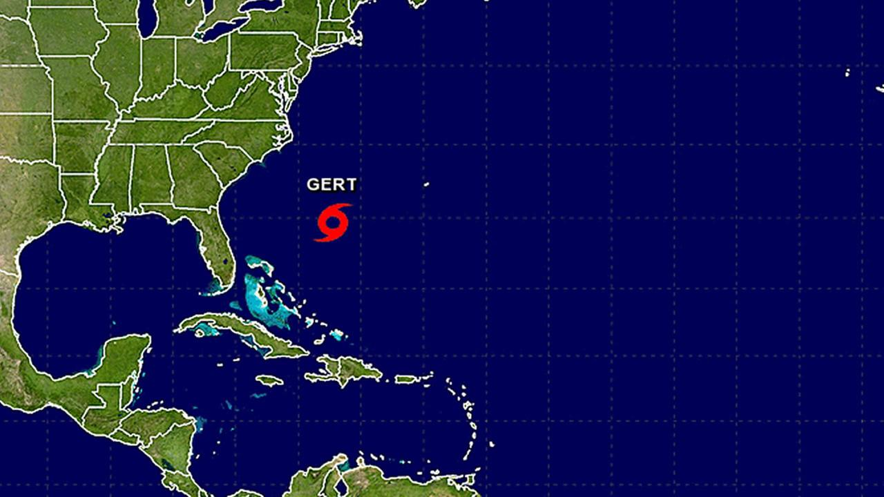 Gert strengthens into season's 2nd hurricane in Atlantic