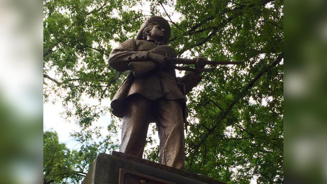 The Confederate monument at UNC known as Silent Sam