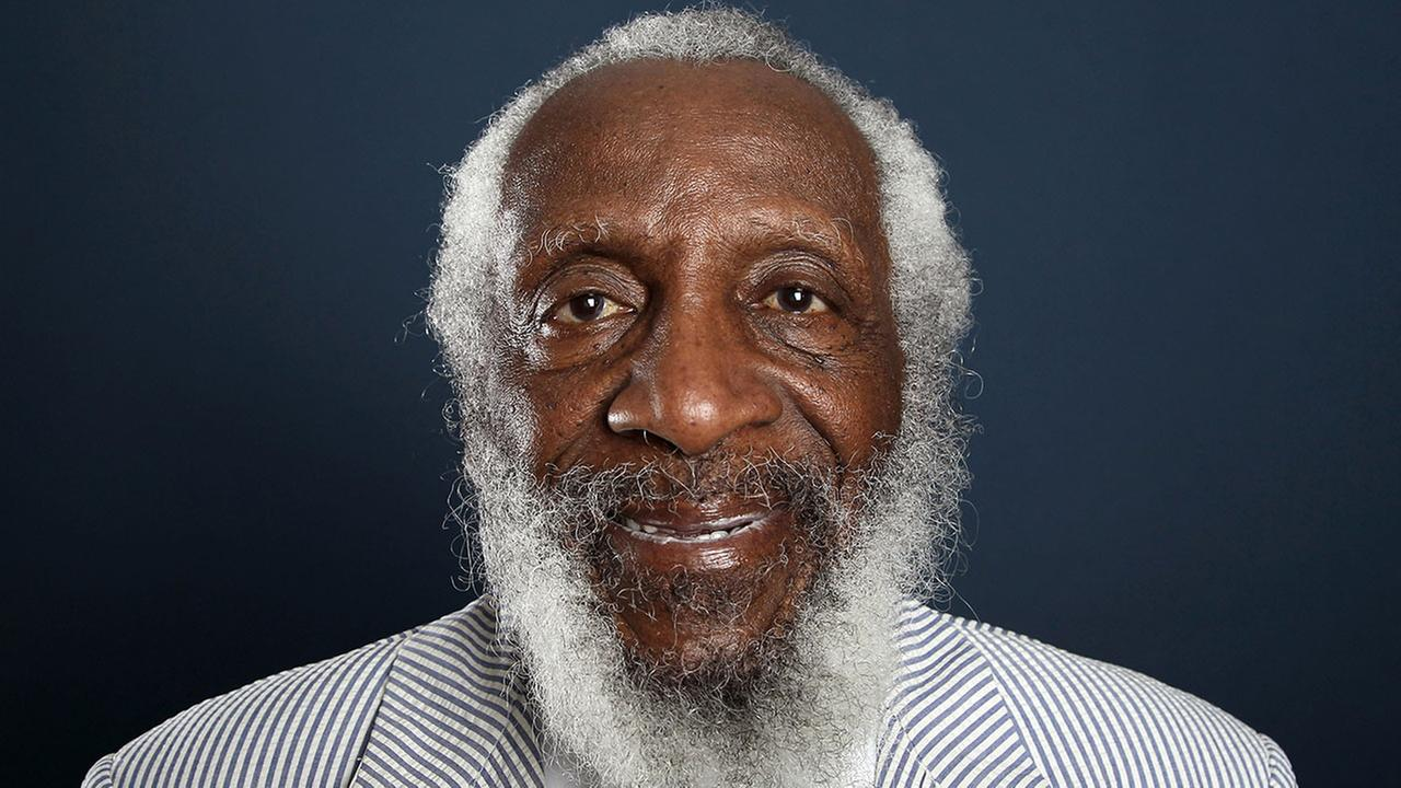 Dick Gregory, seen in 2012