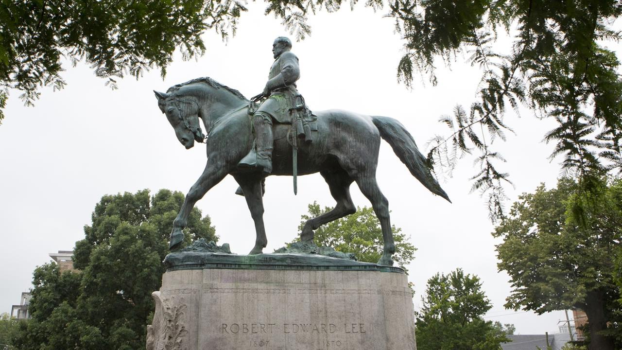 A statue of Confederate general Robert E. Lee sits in Emancipation Park, in Charlottesville, Va. (AP Photo/Julia Rendleman, File)