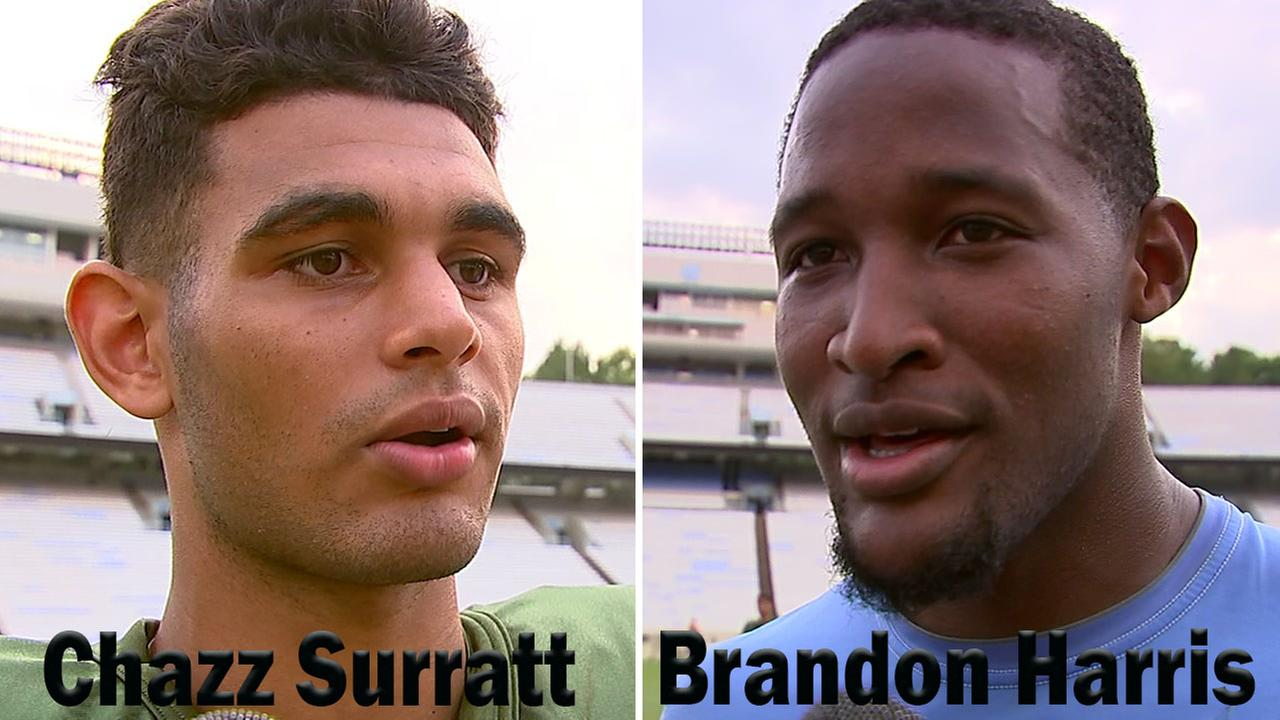 ABC11 caught up with both Brandon Harris and Chazz Surratt after practice Tuesday.