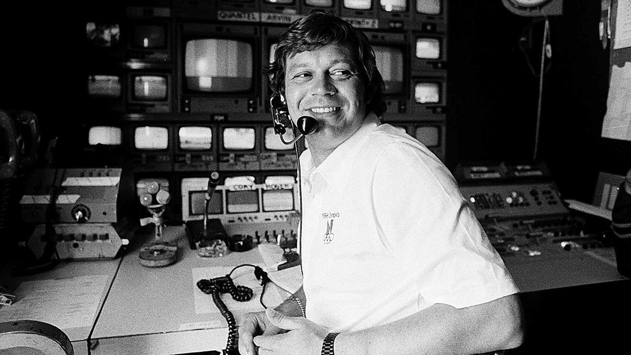 This April 14, 1978, file photo shows TV producer Don Ohlmeyer at a mobile TV control center during a golf tournament in Rancho Mirage, Calif.