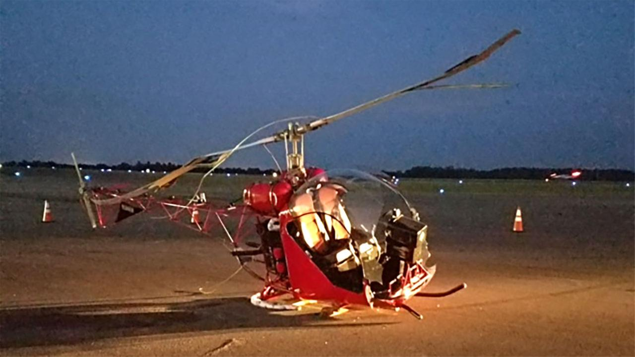 The helicopter made a hard landing Thursday night.