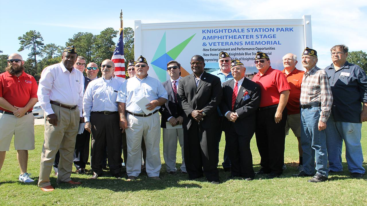 Knightdale dedicates memorial and amphitheater stage to Veterans