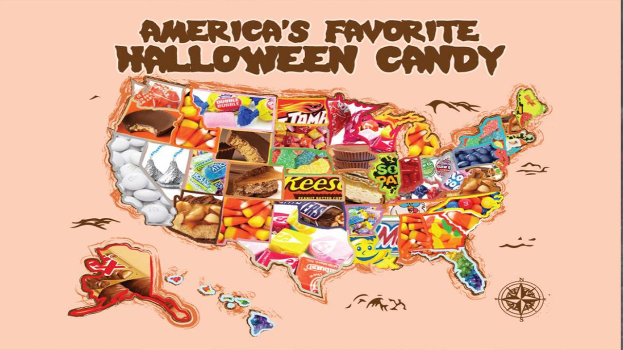 Heres a map of the top-selling Halloween candies in every state
