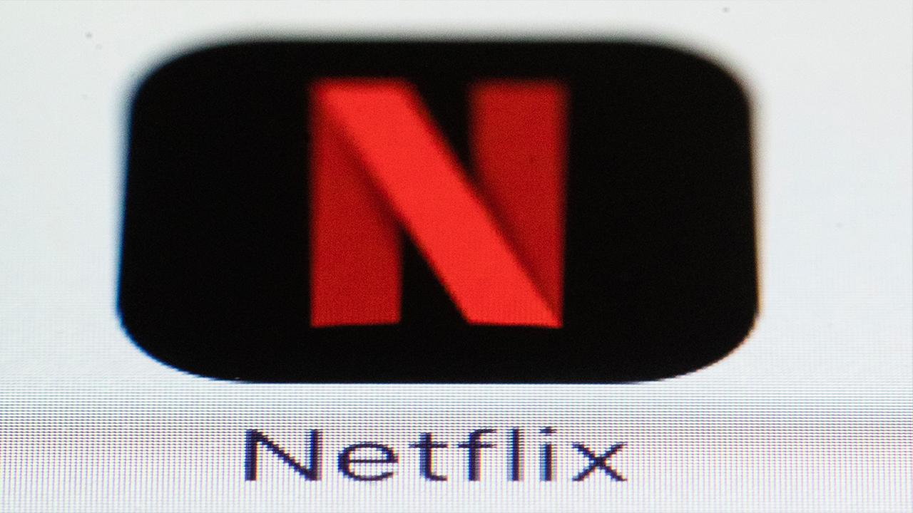 File photo shows the Netflix logo on an iPhone