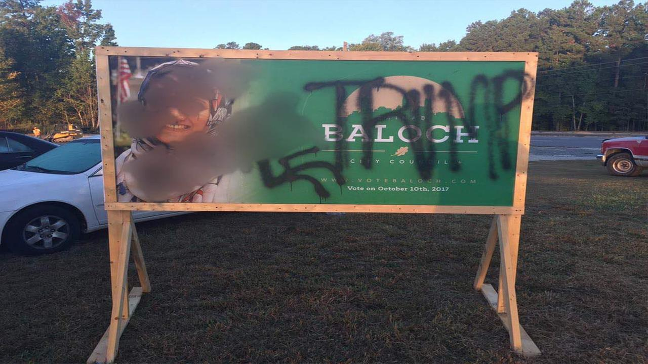 Zainab Baloch said shes hurt by the words of hate spray painted on her campaign sign