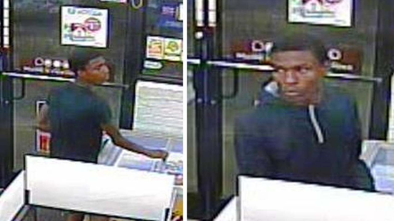 Police say these two men robbed two businesses October 16.