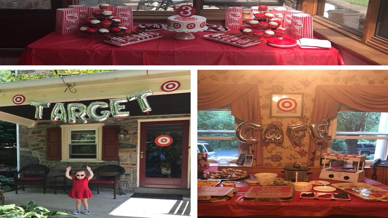 Three-year-old Charlie loves Target, so she decided to have a Target-themed birthday party