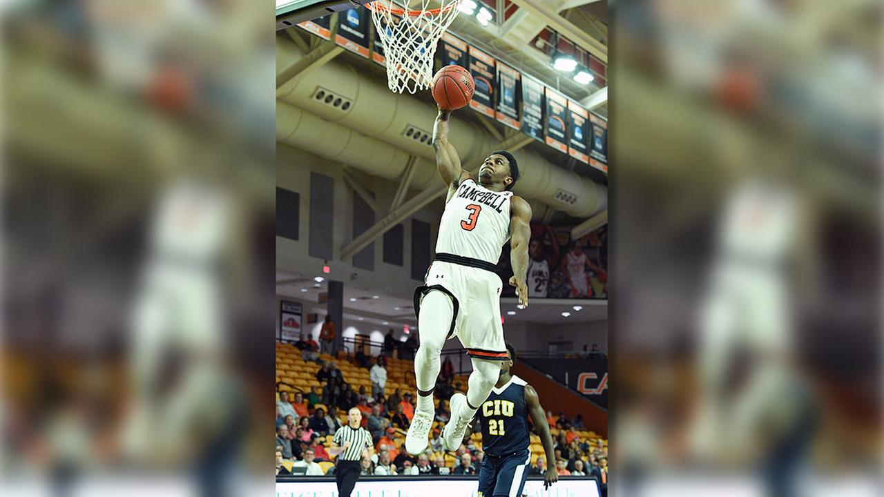 Chris Clemons soars in for two of his 27 points in just 20 minutes of action Monday night.
