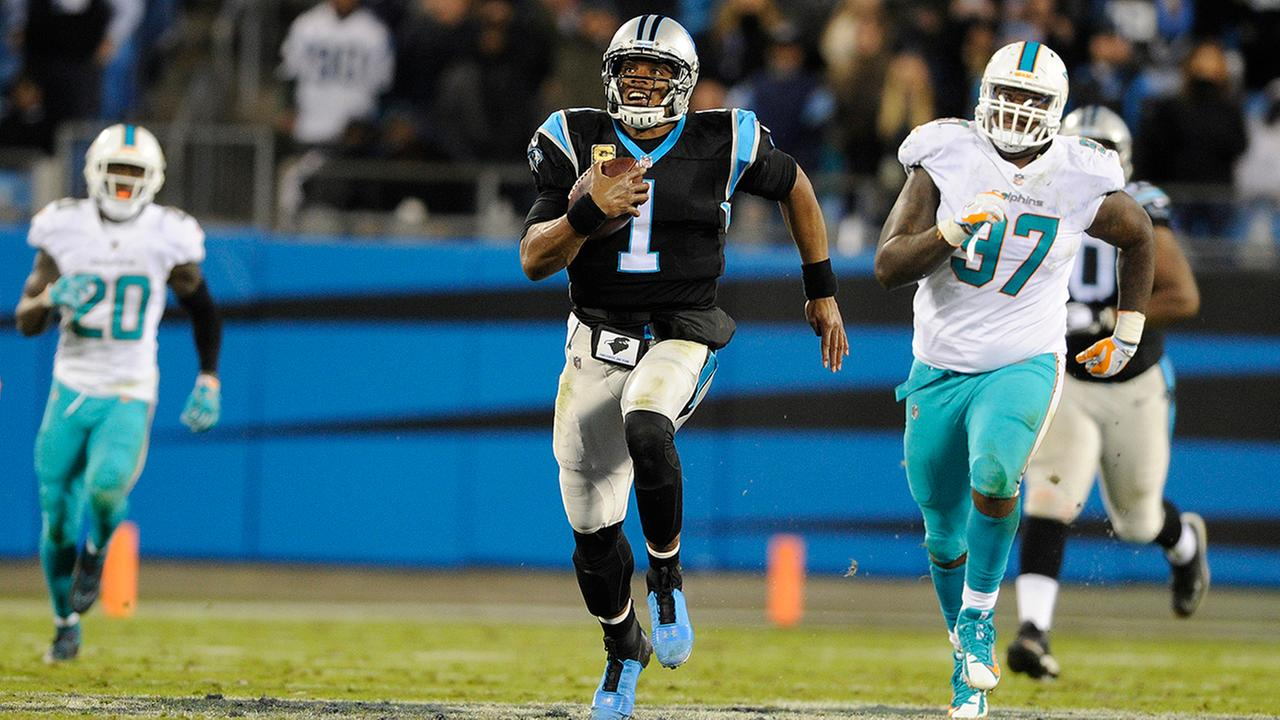 Cam Newton and the Panthers ran (and threw) past the Miami Dolphins.