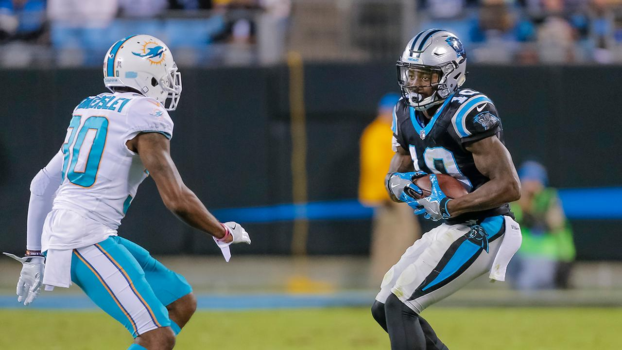 Curtis Samuel had five catches against the Dolphins on Monday night