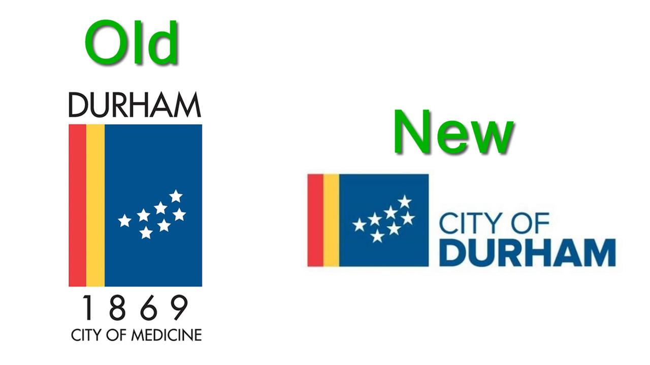 Durhams old and new logos