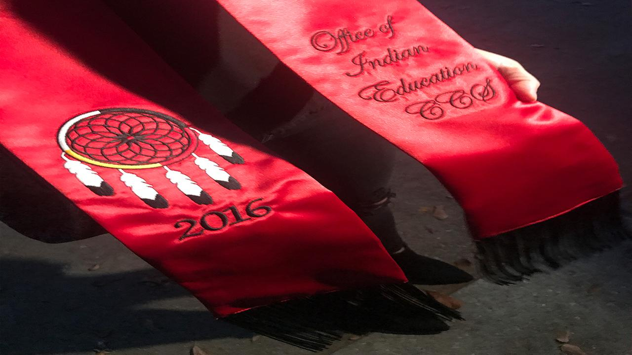 Native American graduation stole