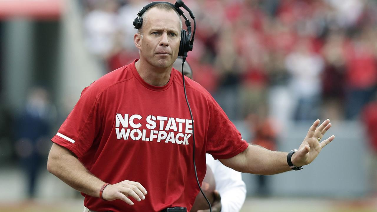 North Carolina State head coach Dave Doeren