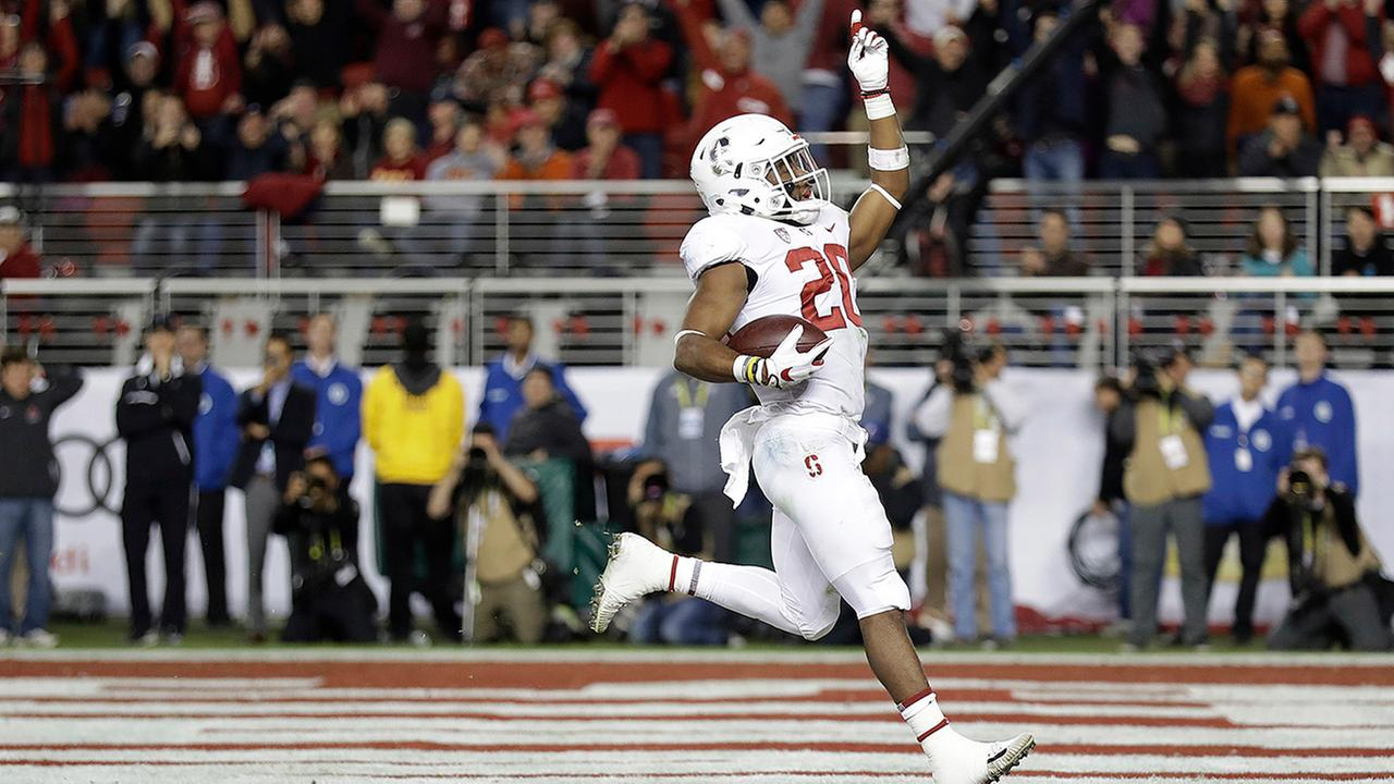 Stanford star and former Wake Forest High back Bryce Love had 125 yards and a touchdown in the 31-28 PAC-12 title game loss to USC