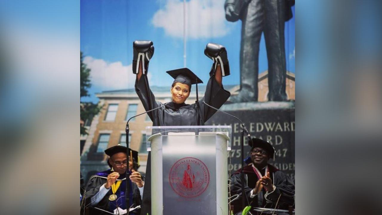 Tisha Powell gives knock out speech at NCCU graduation