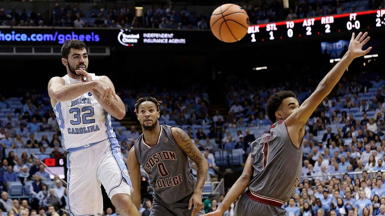 UNCs Luke Maye had a dominant game to propel the Tar Heels past Boston College on Tuesday in Chapel Hill.