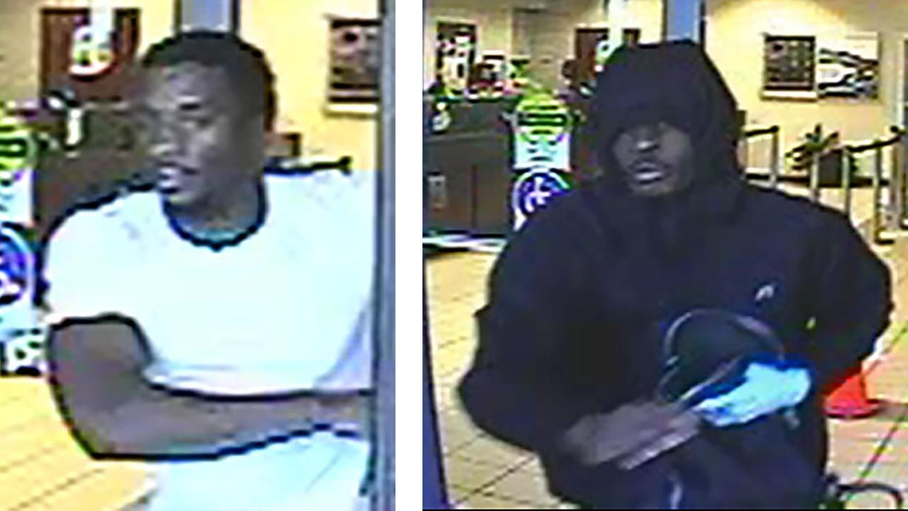 Surveillance image of the robbery suspects.