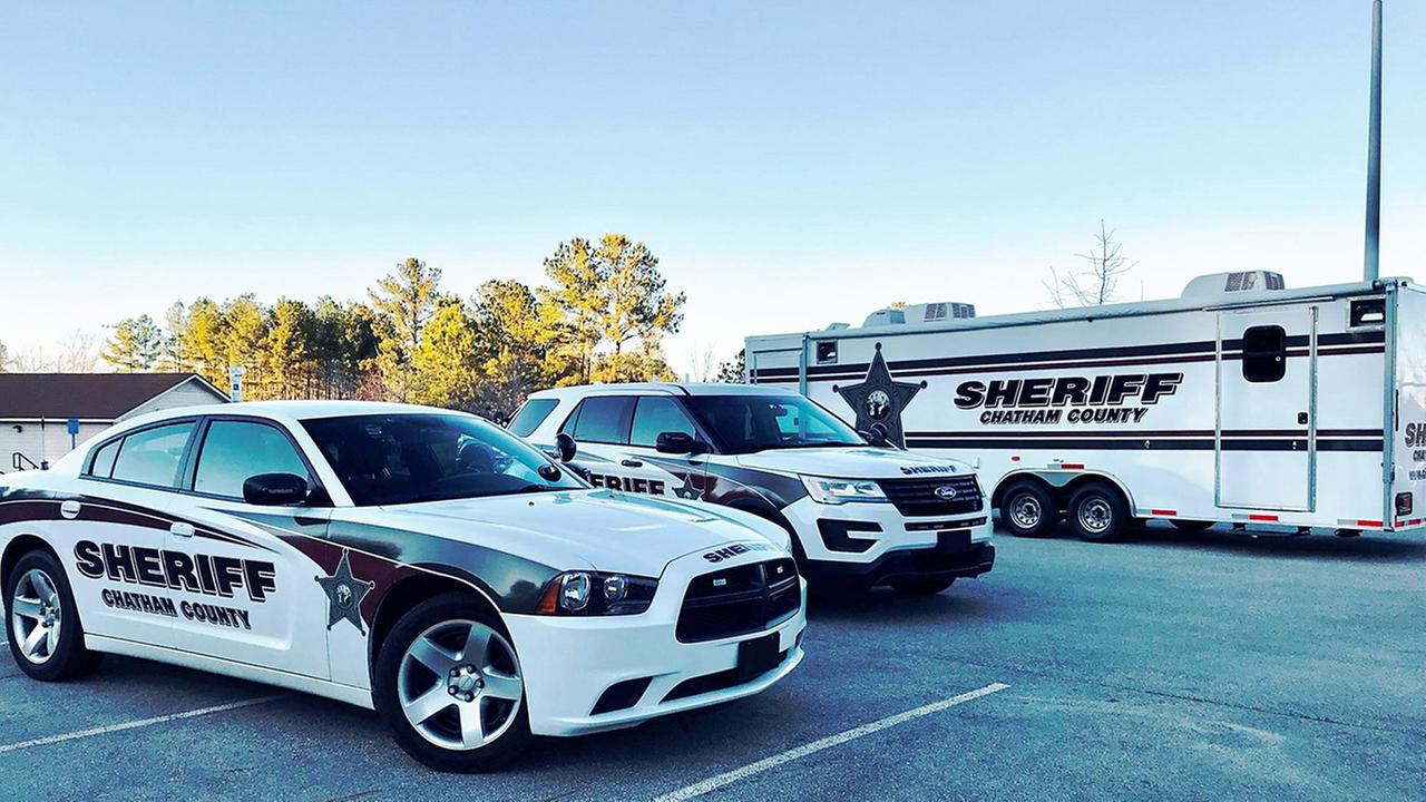 The Chatham County Sheriffs Office Mobile Command was staged at Northeast District Park near Big Woods Road in the hunt for the suspects.