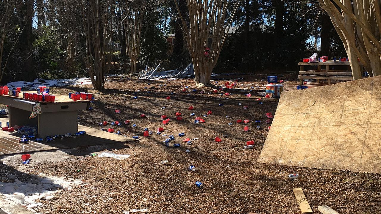 Some residents near Duke University say a house down the street plays loud music at night and leaves trash all over the place. Now, they want something done about it.