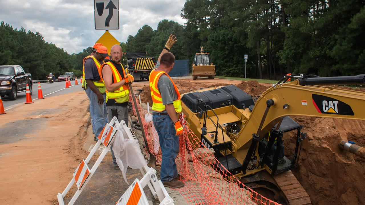 Hammond Road sinkhole repair