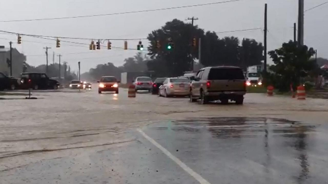 Legion Road flooding video