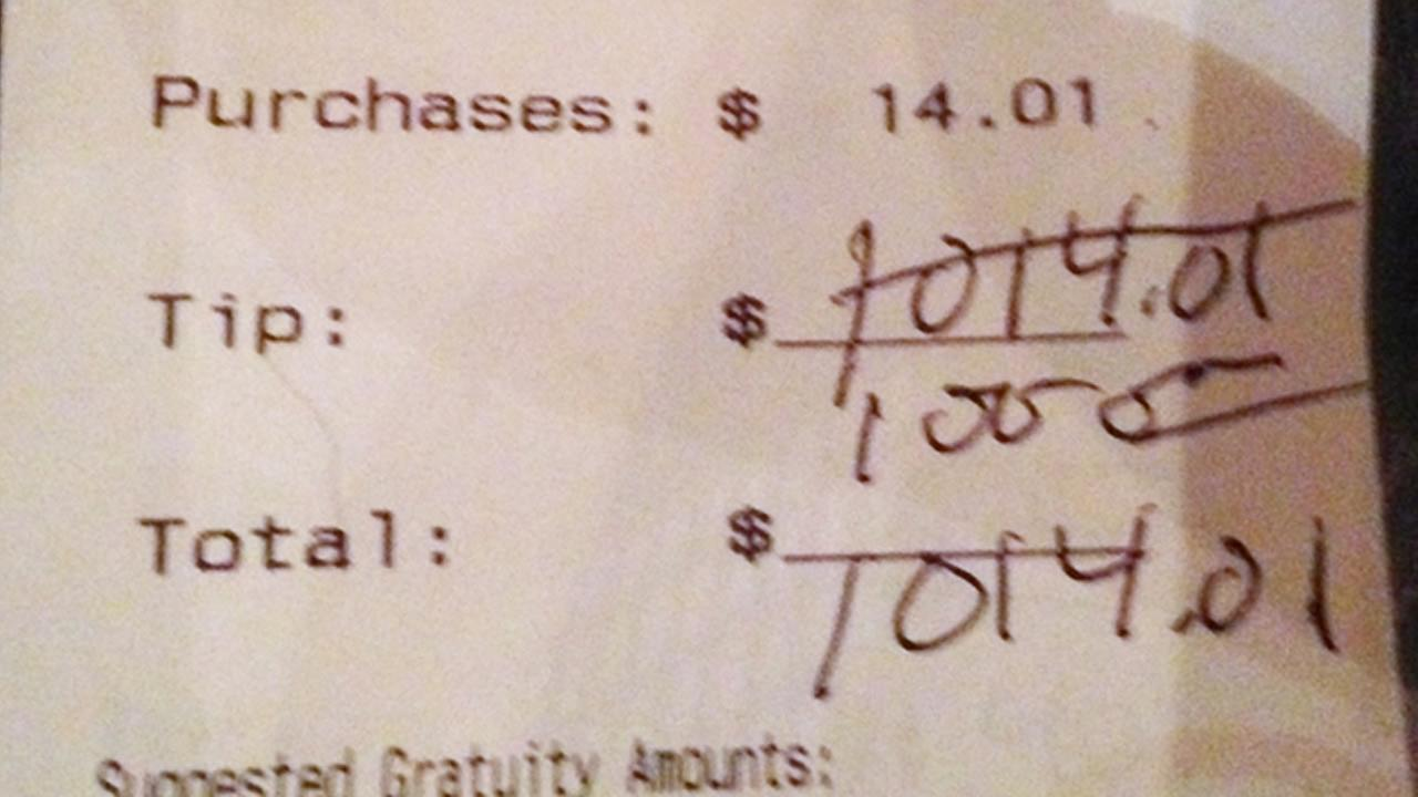 Chrissy Kemp got a $1,000 tip from a customer.