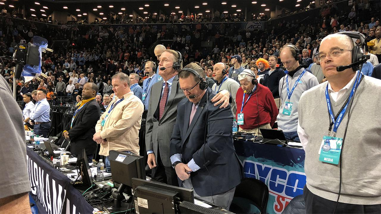 North Carolina Pays Tribute To Former Broadcaster At ACC Tournament