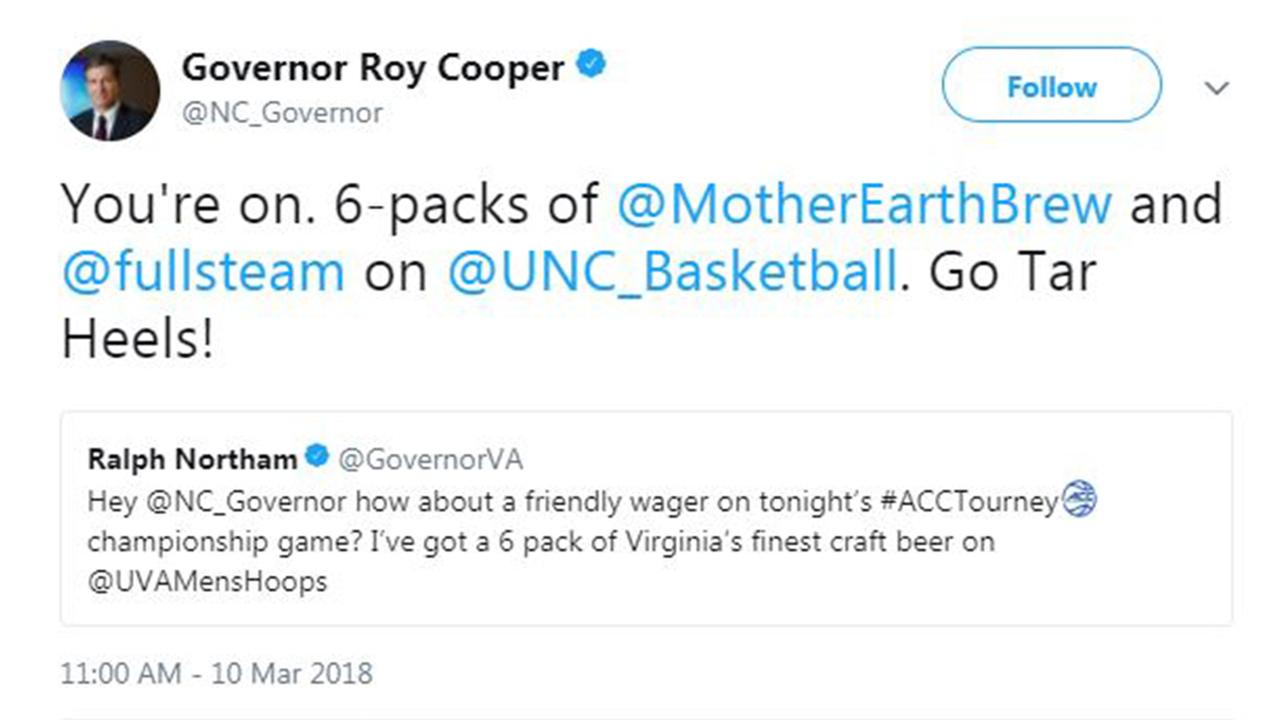 Cooper bets with Va. Governor on ACC game