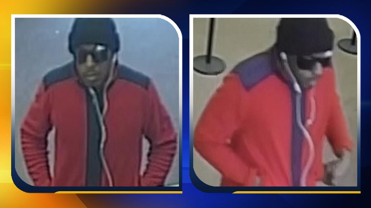 Surveillance images of the BB&T bank robbery suspect.