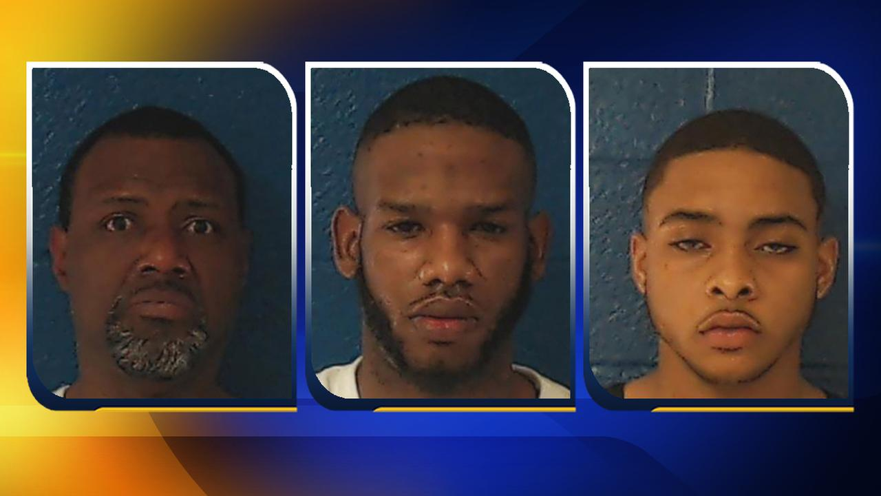 From left, Cohn Deangelo Hinton, of Raleigh, Kendrick Dequan Rogers, of Raleigh, and Brendon Rashad White, of Wilson.