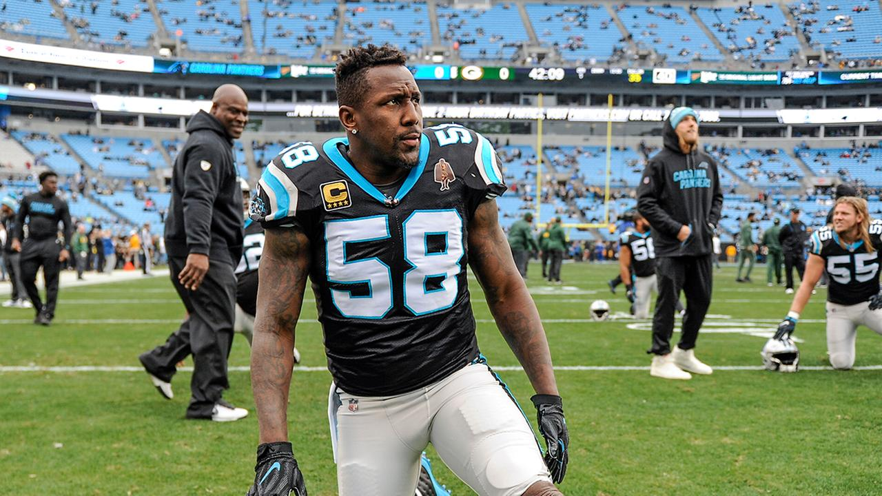 Thomas Davis generic carolina panthers Dec. 17, 2017