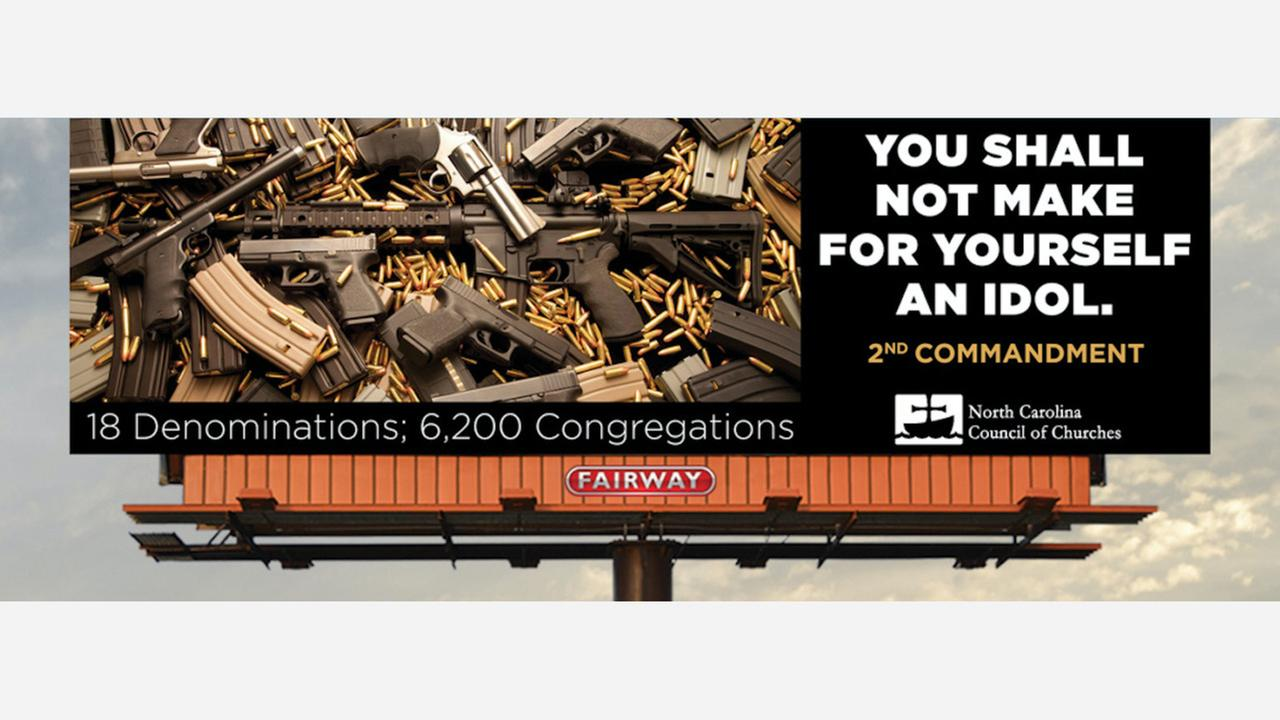 Churches plan billboard message about guns along I-40/85
