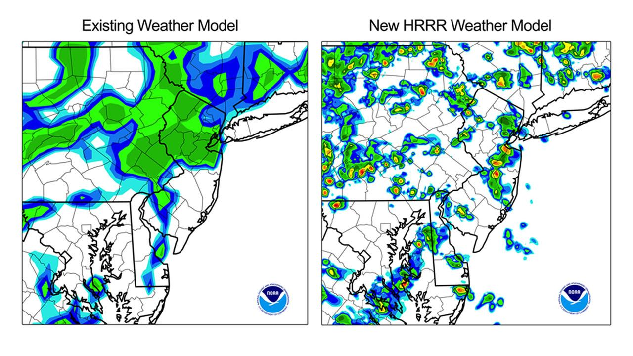 The National Weather Service is now using a new model, the High Resolution Rapid Refresh Model, to revolutionize the art of forecasting.