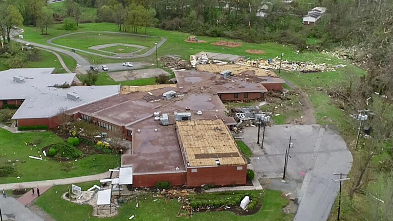 Greensboro tornado damage