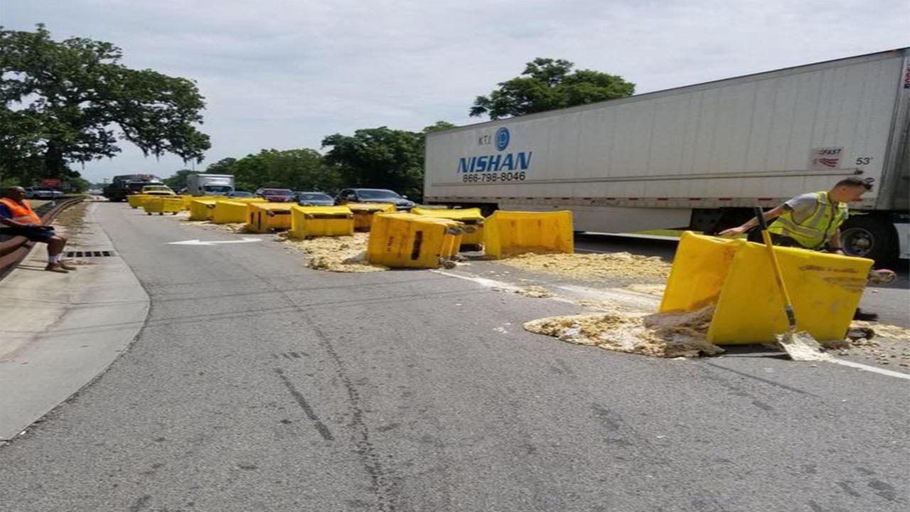 Cookie dough spill spreads sweet stuff on NC street