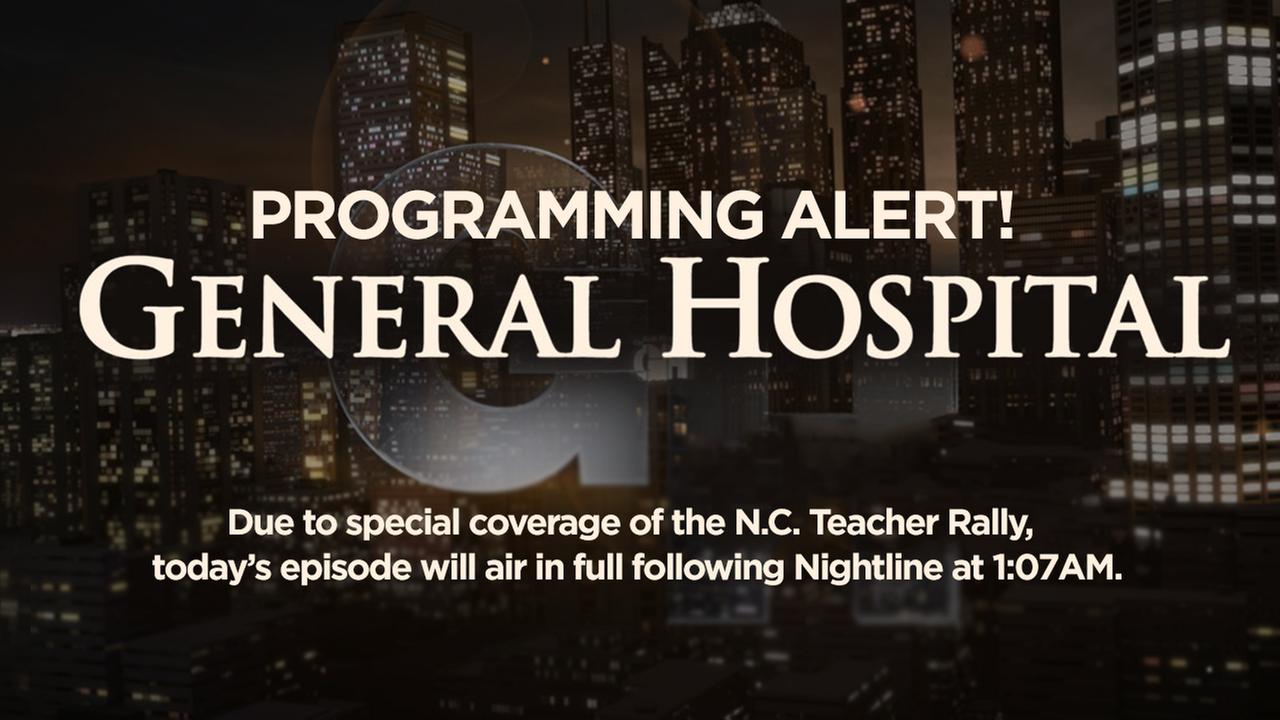 Programming Alert: General Hospital to air in late night