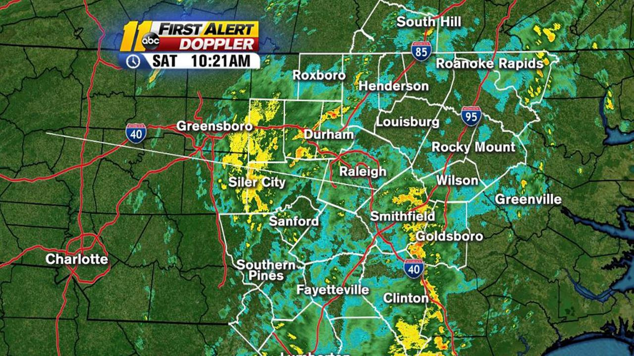 First Alert Mode: Showers, storms expected throughout the day