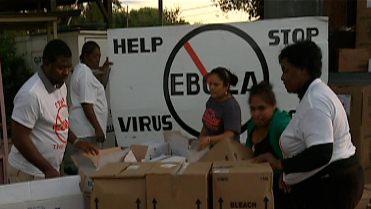 Helping Hands Mission in Raleigh collecting Ebola supplies