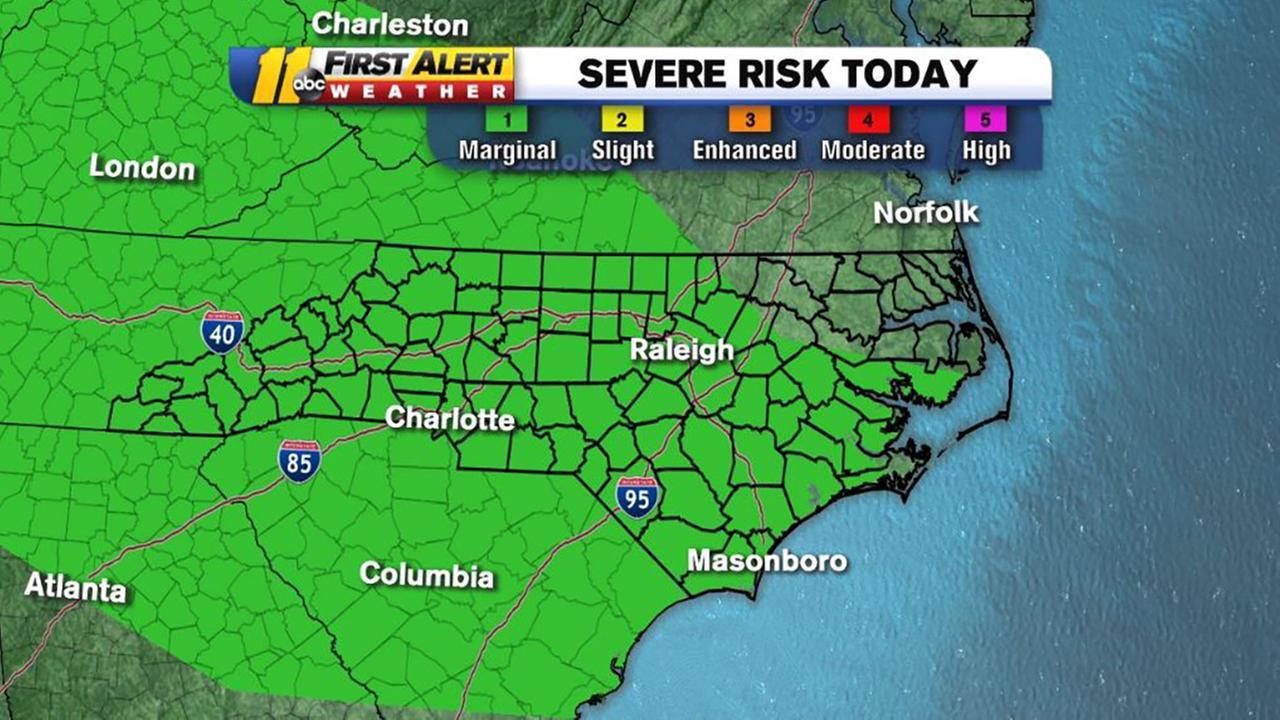 First Alert Mode: Marginal risk for severe weather today