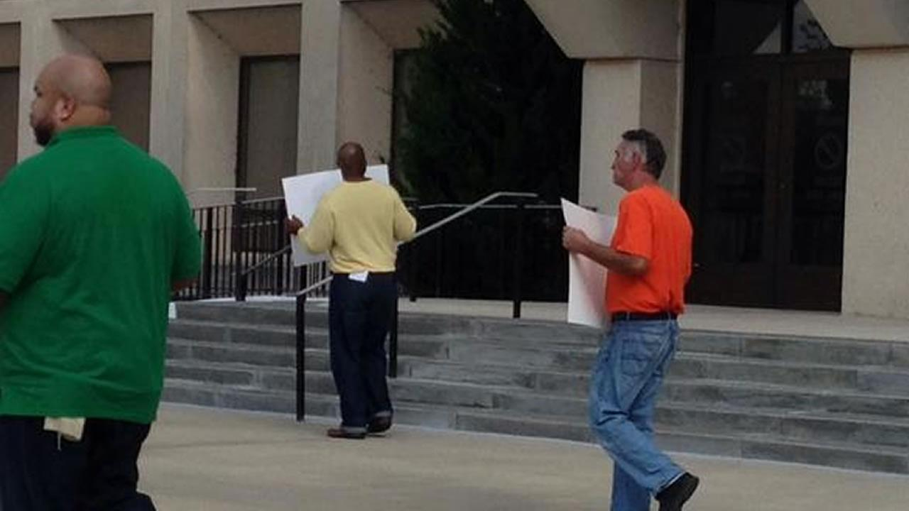 Same-sex marriage protest at Cumberland County Courthouse