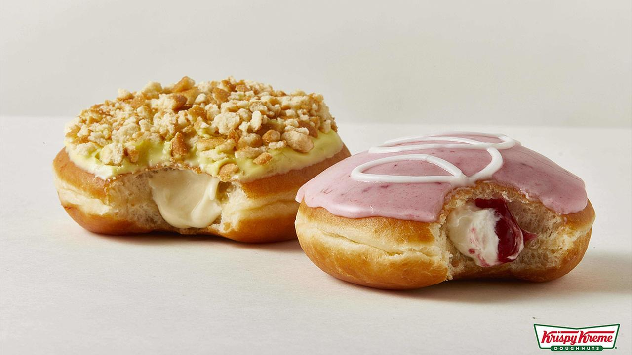 Krispy Kreme has released its Strawberries and Kreme Doughnut and Banana Pudding Doughnut for a limited time