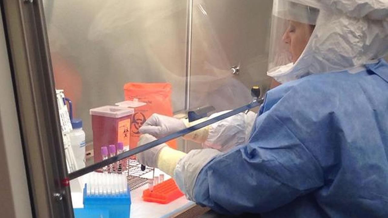 Ebola testing lab in Raleigh
