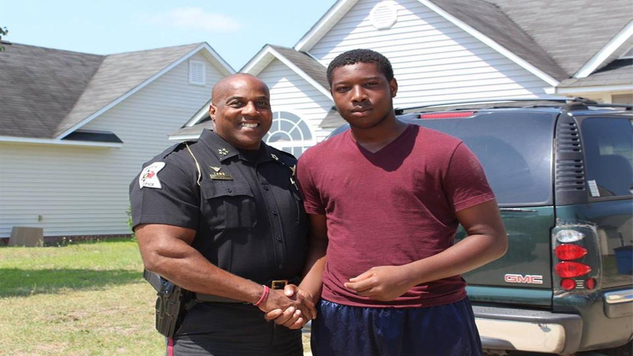 Saiveon Jackson and a deputy with the CCSO