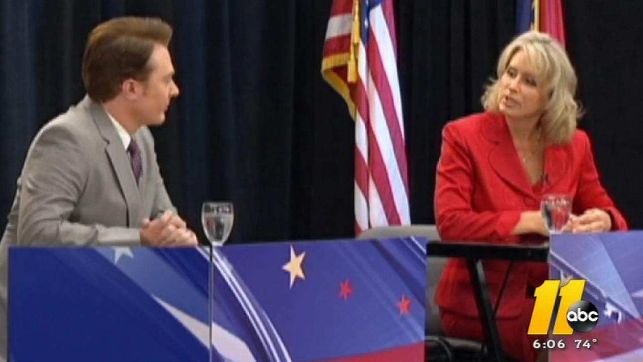 Republican Renee Ellmers and challenger Clay Aiken at their one debate.