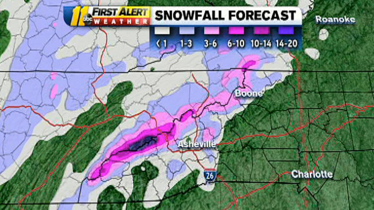 Mountain snow forecast
