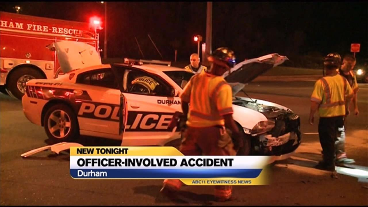 Officer involved accident in Durham