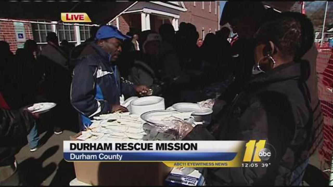 Durham Rescue Mission Thanksgiving dinner 2013