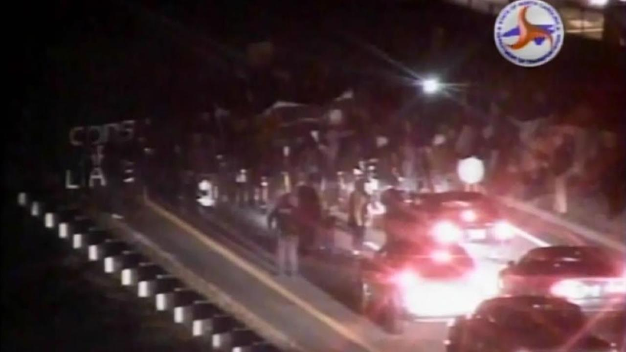 Protesters on the Durham Freeway